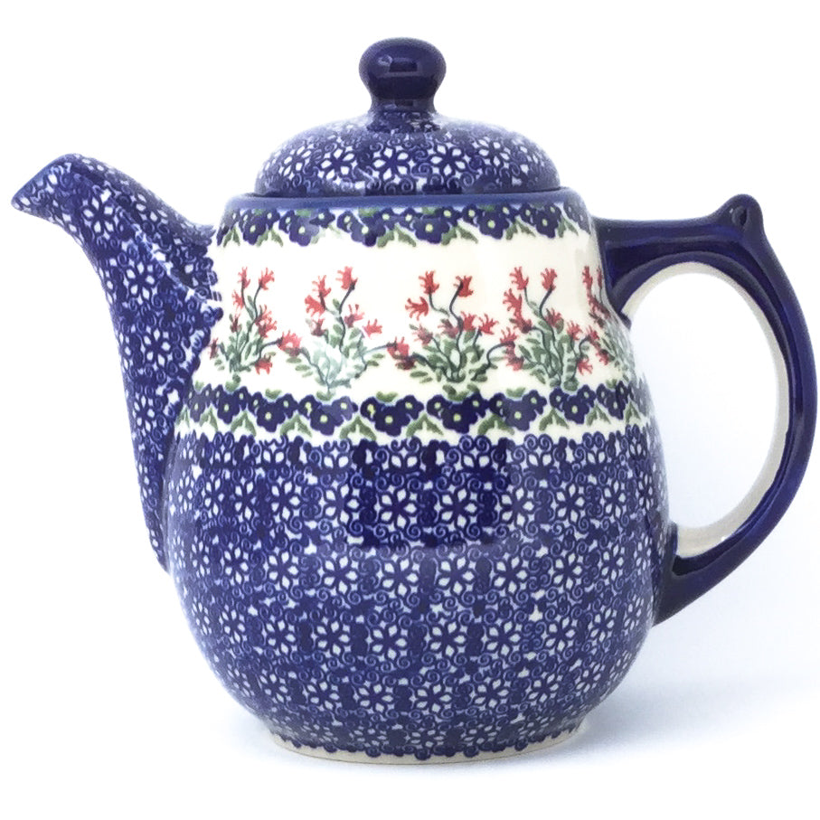 Tall Teapot 2 qt in Field of Flowers