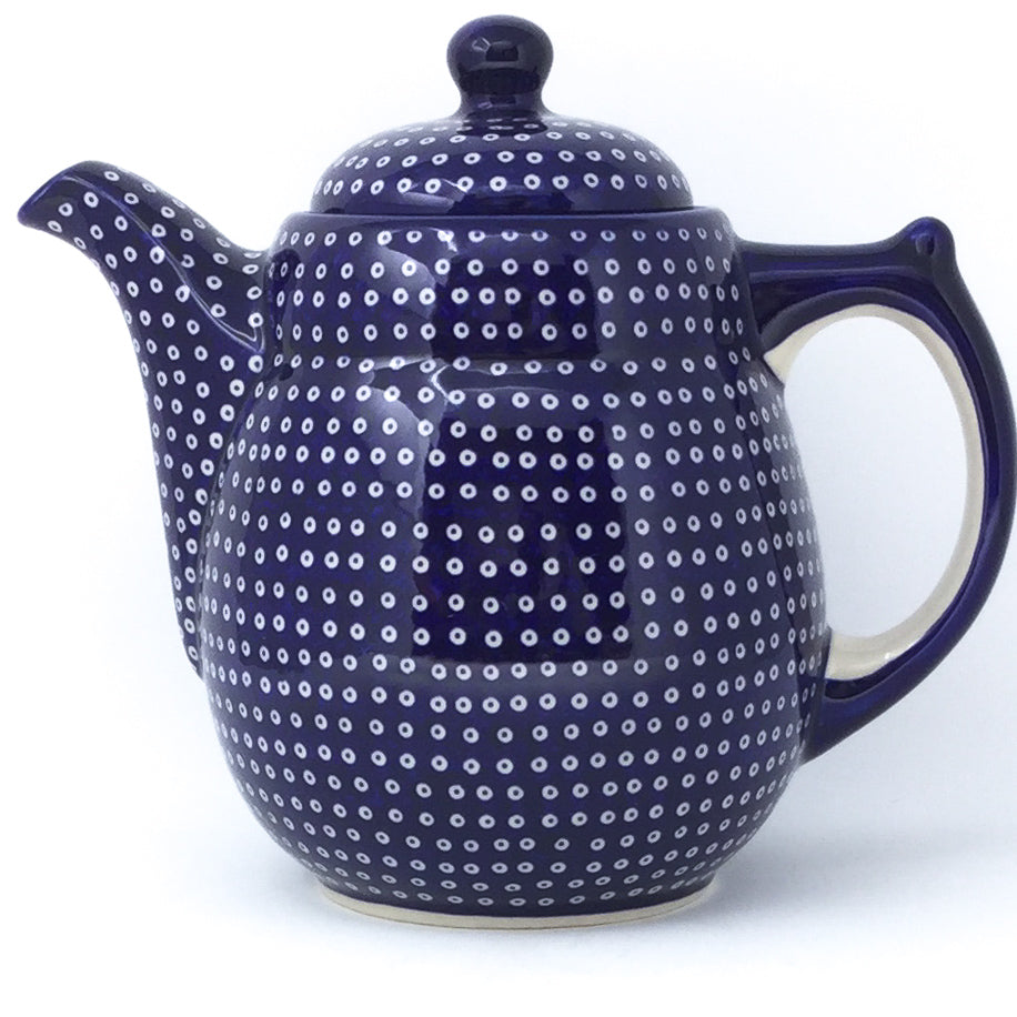 Tall Teapot 2 qt in Blue Elegance