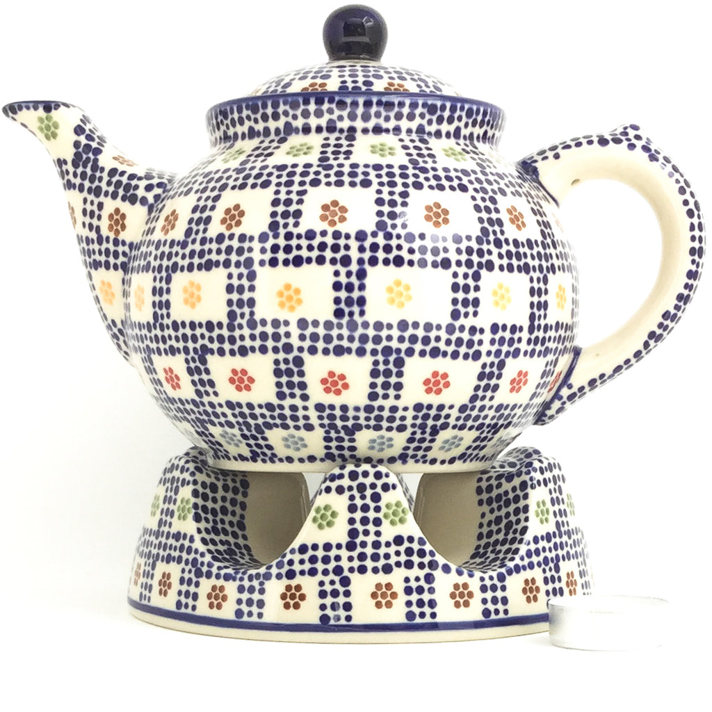 Afternoon Teapot 1.5 qt in Modern Checkers