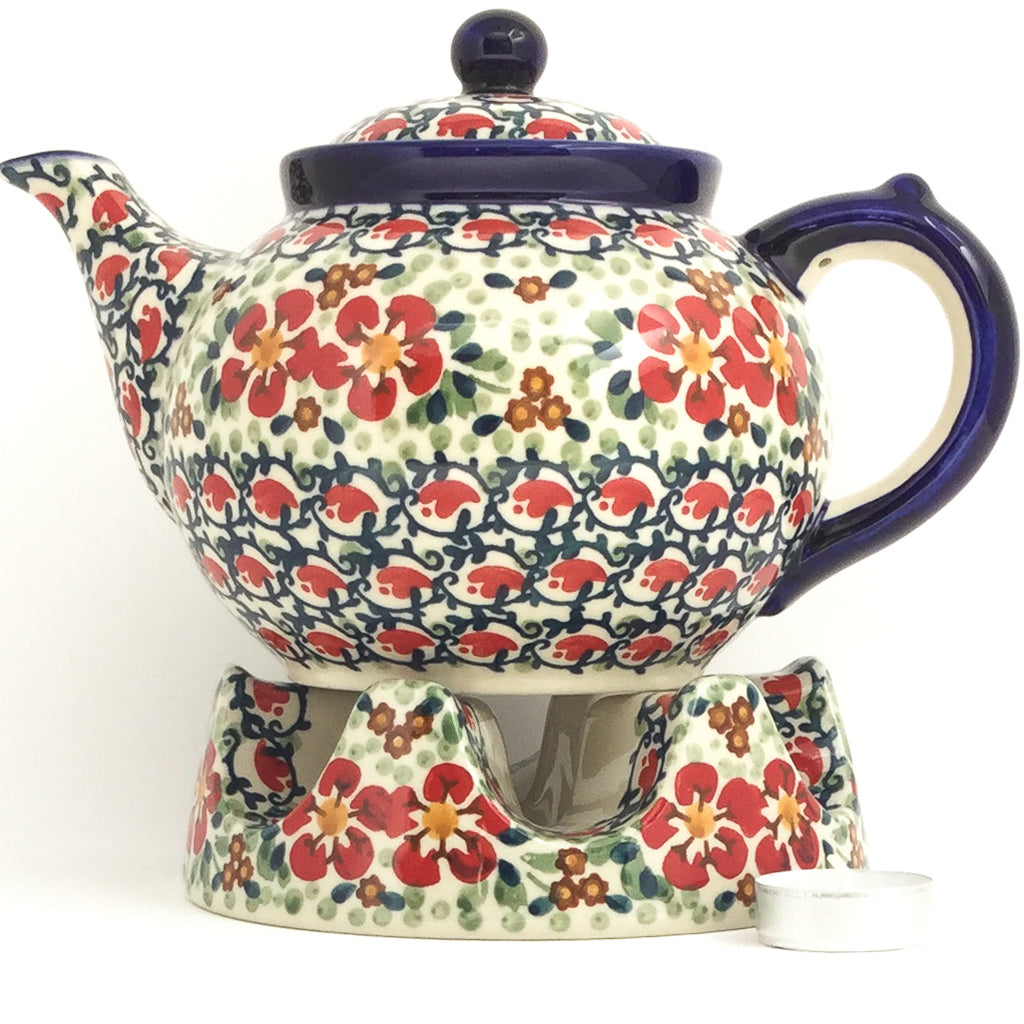Afternoon Teapot 1.5 qt in Red Poppies