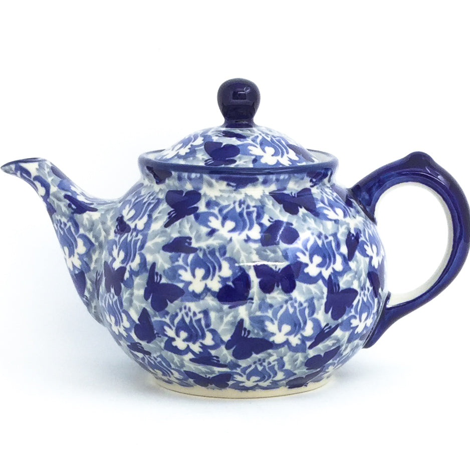 Morning Teapot 1 qt in Blue Butterfly