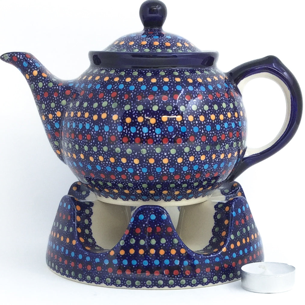 Morning Teapot 1 qt in Multi-Colored Dots