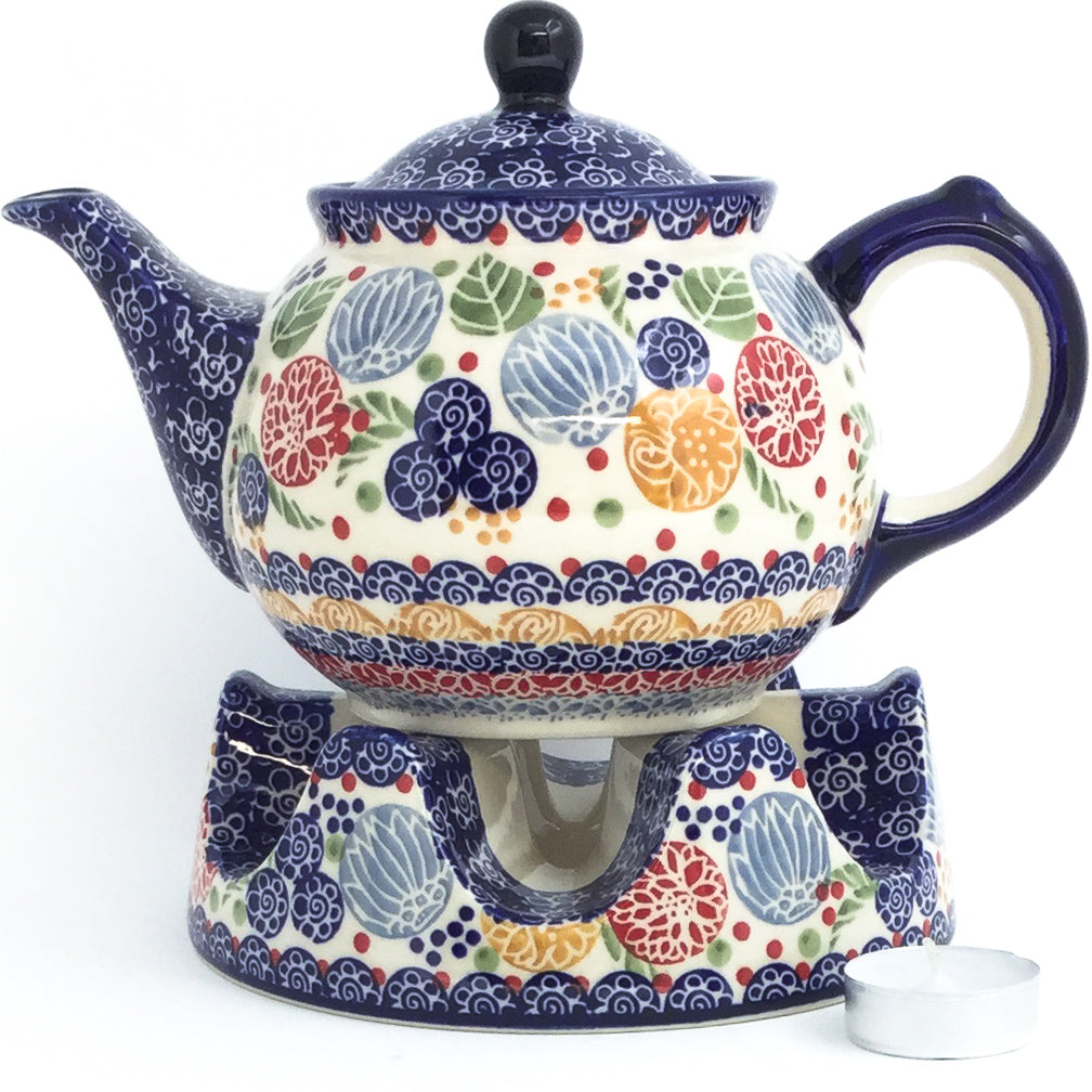 Morning Teapot 1 qt in Modern Berries