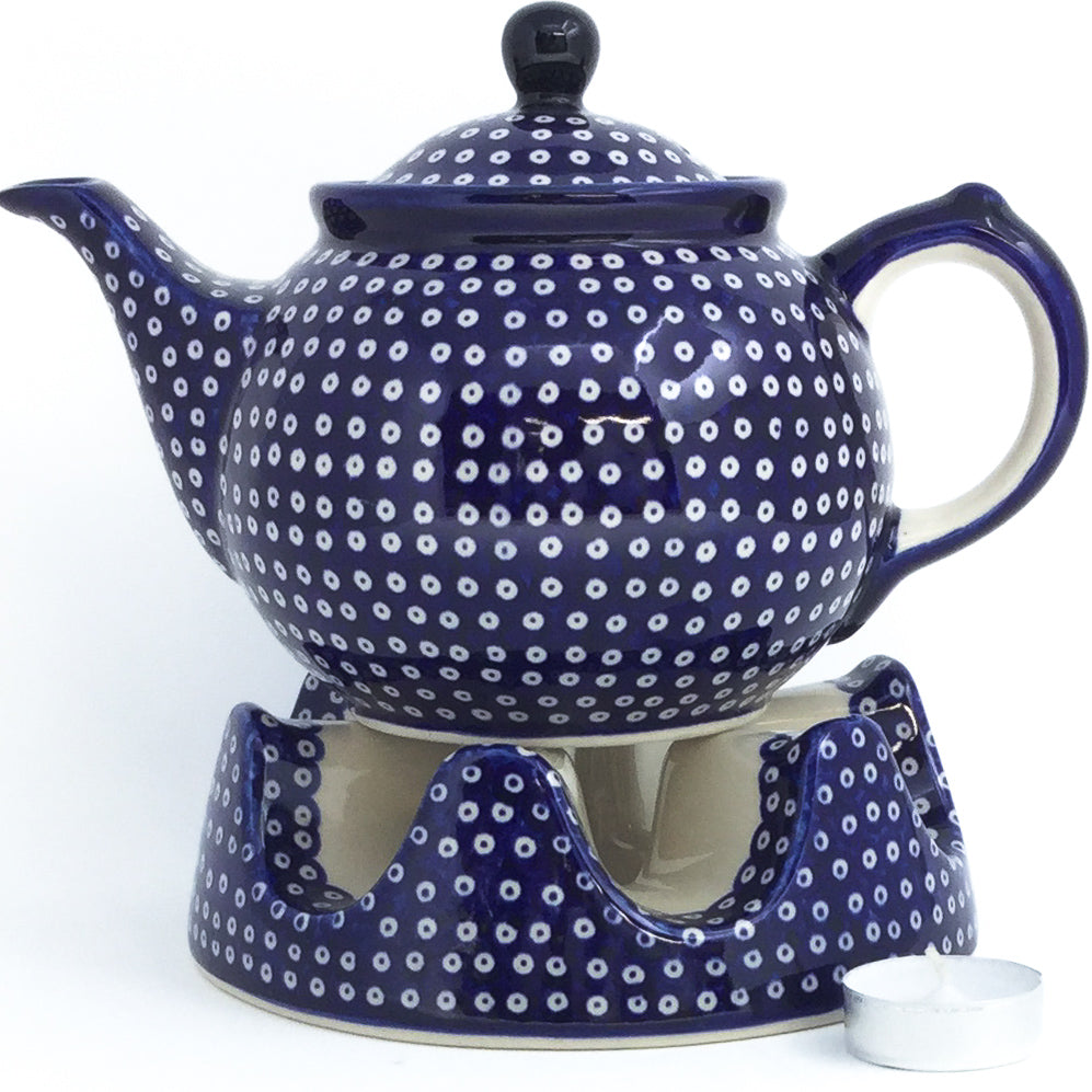 Morning Teapot 1 qt in Blue Elegance