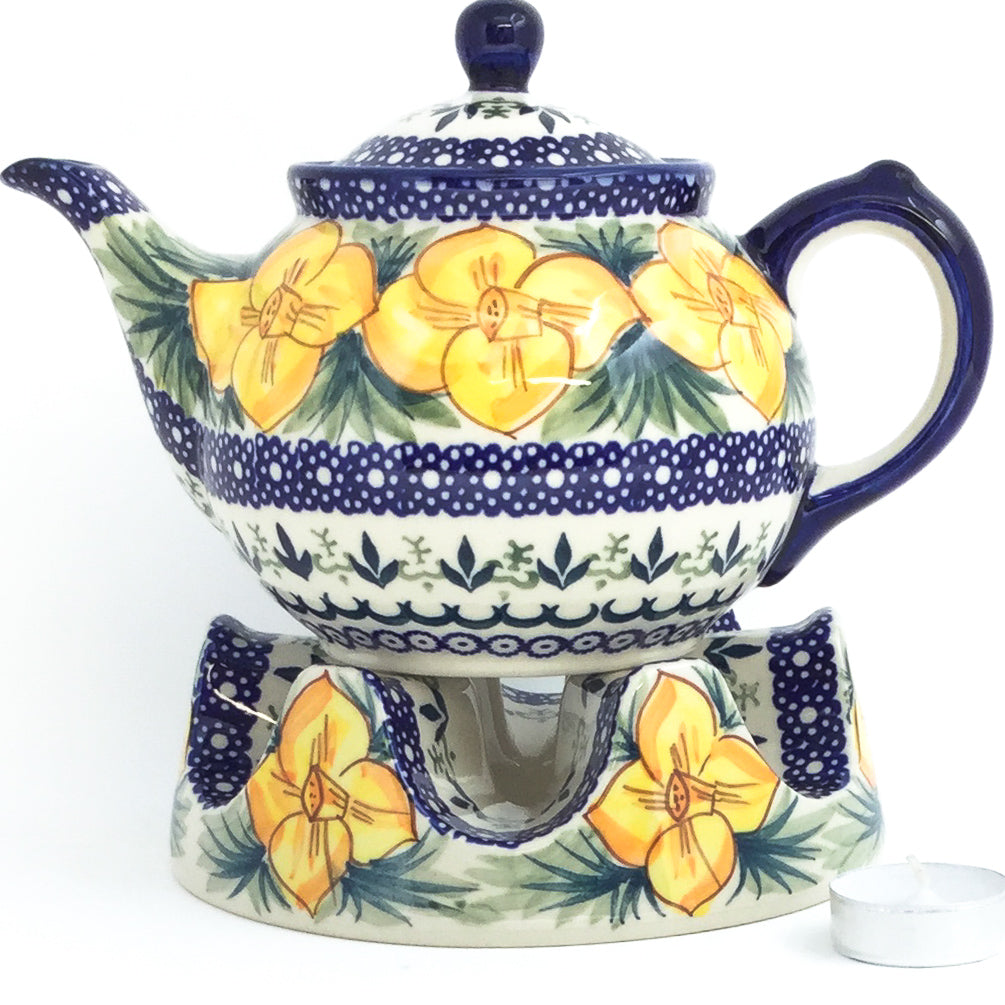 Morning Teapot  1 qt in Daffodils
