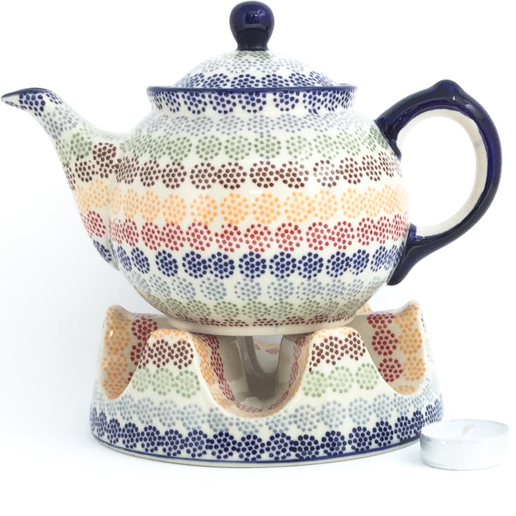 Morning Teapot 1 qt in Modern Dots