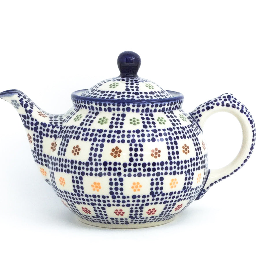 Morning Teapot 1 qt in Modern Checkers