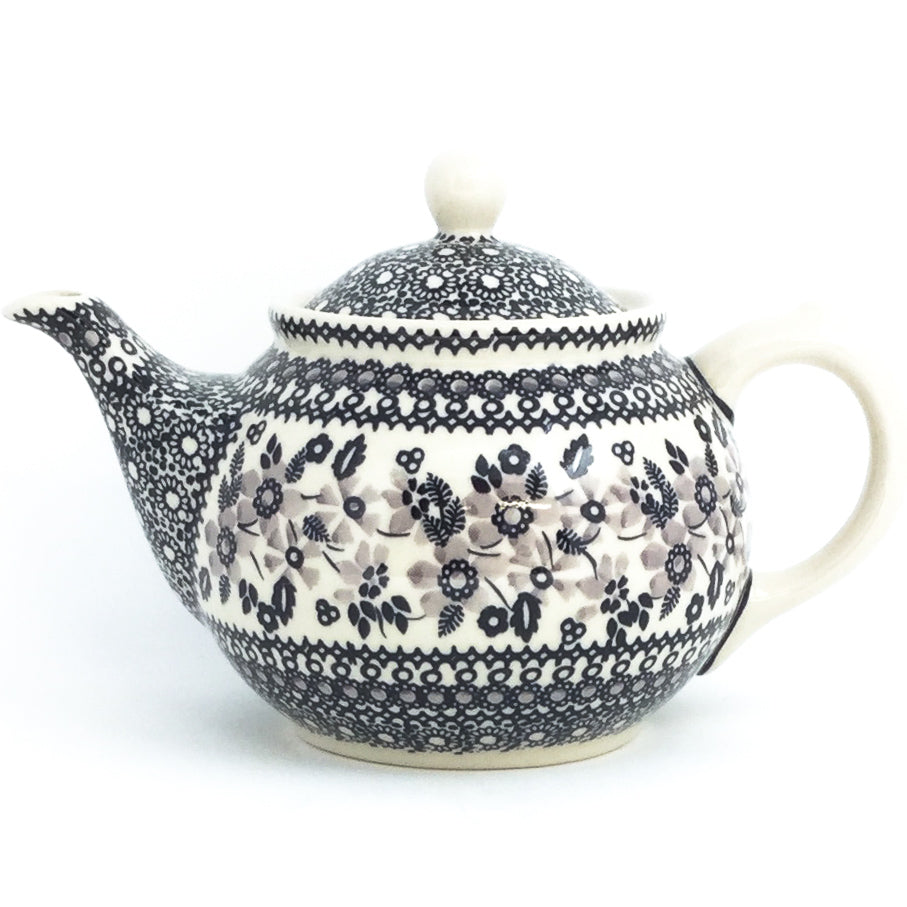 Morning Teapot 1 qt in Gray & Black