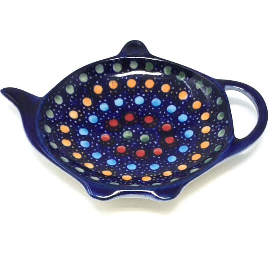 Teabag Dish in Multi-Colored Dots
