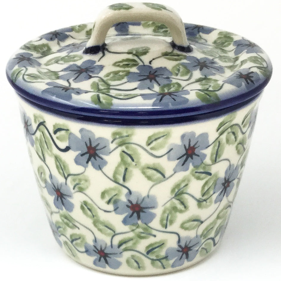 Teabags Container 16 oz in Blue Clematis
