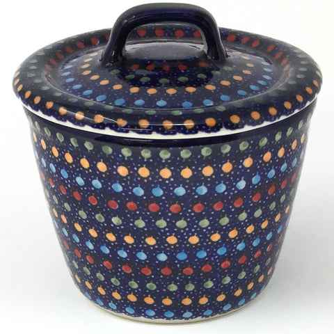 Teabags Container 16 oz in Multi-Colored Dots