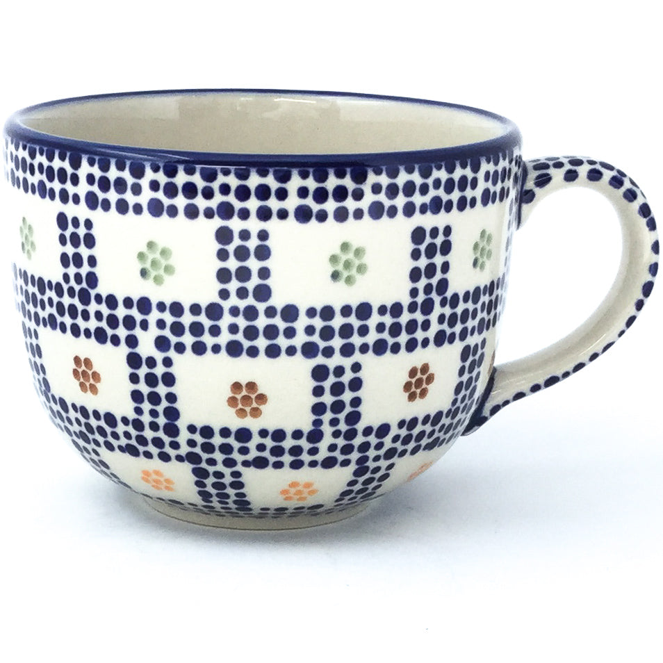 Latte Cup 16 oz in Modern Checkers