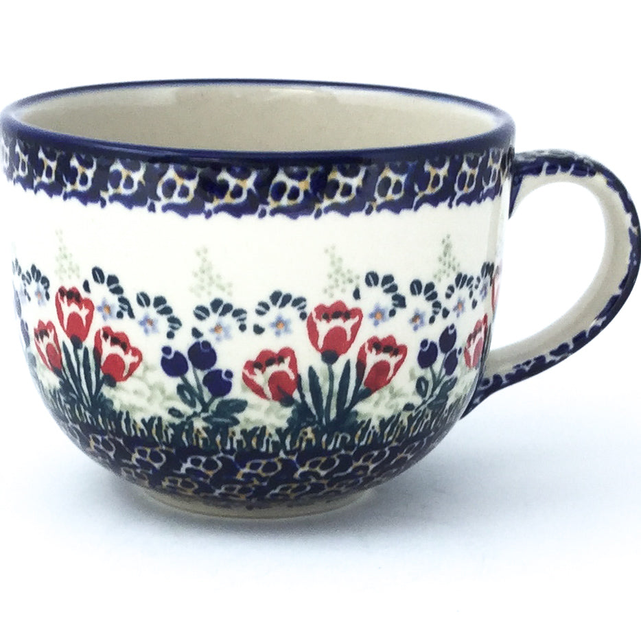 Latte Cup 16 oz in Red Tulips