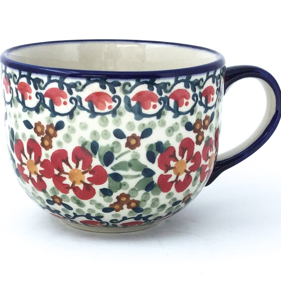 Latte Cup 16 oz in Red Poppies
