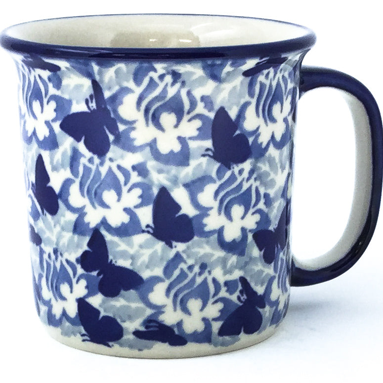 Straight Cup 12 oz in Blue Butterfly