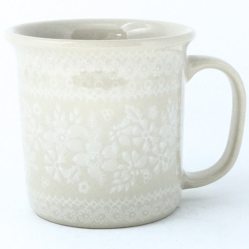 Straight Cup 12 oz in White on White