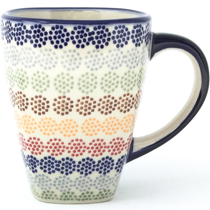 Square Cup 12 oz in Modern Dots