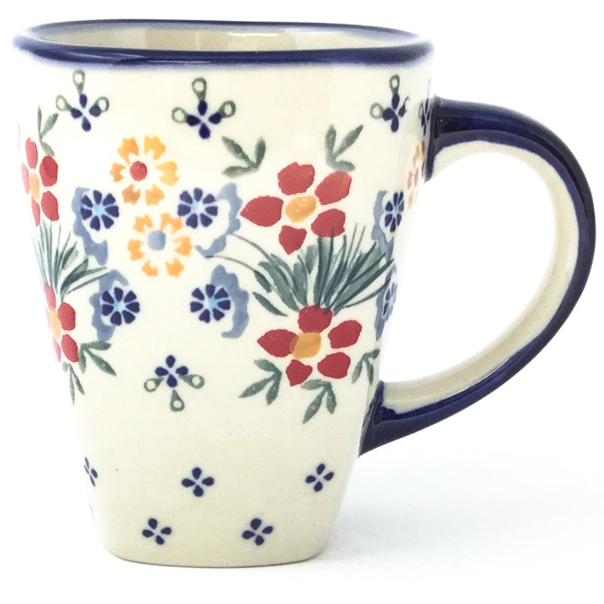 Square Cup 12 oz in Delicate Flowers