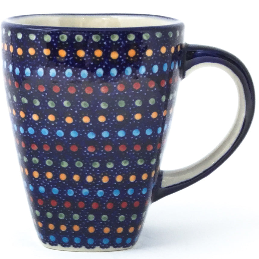 Square Cup 12 oz in Multi-Colored Dots
