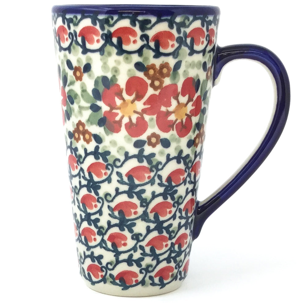 Tall Cup 12 oz in Red Poppies