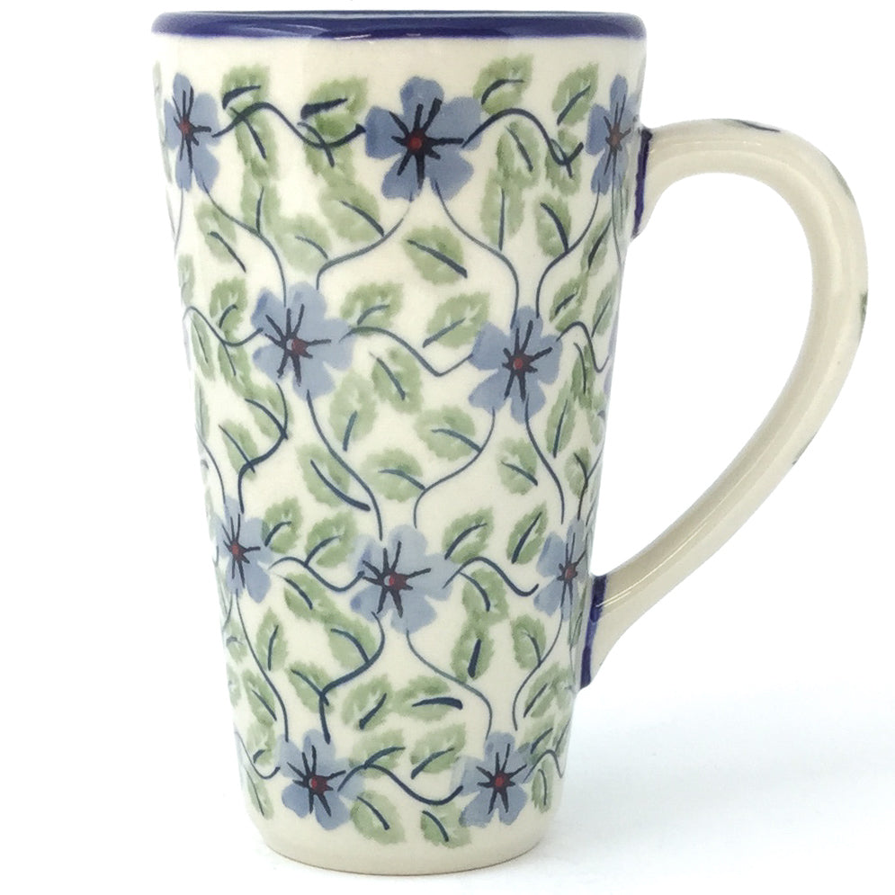 Tall Cup 12 oz in Blue Clematis