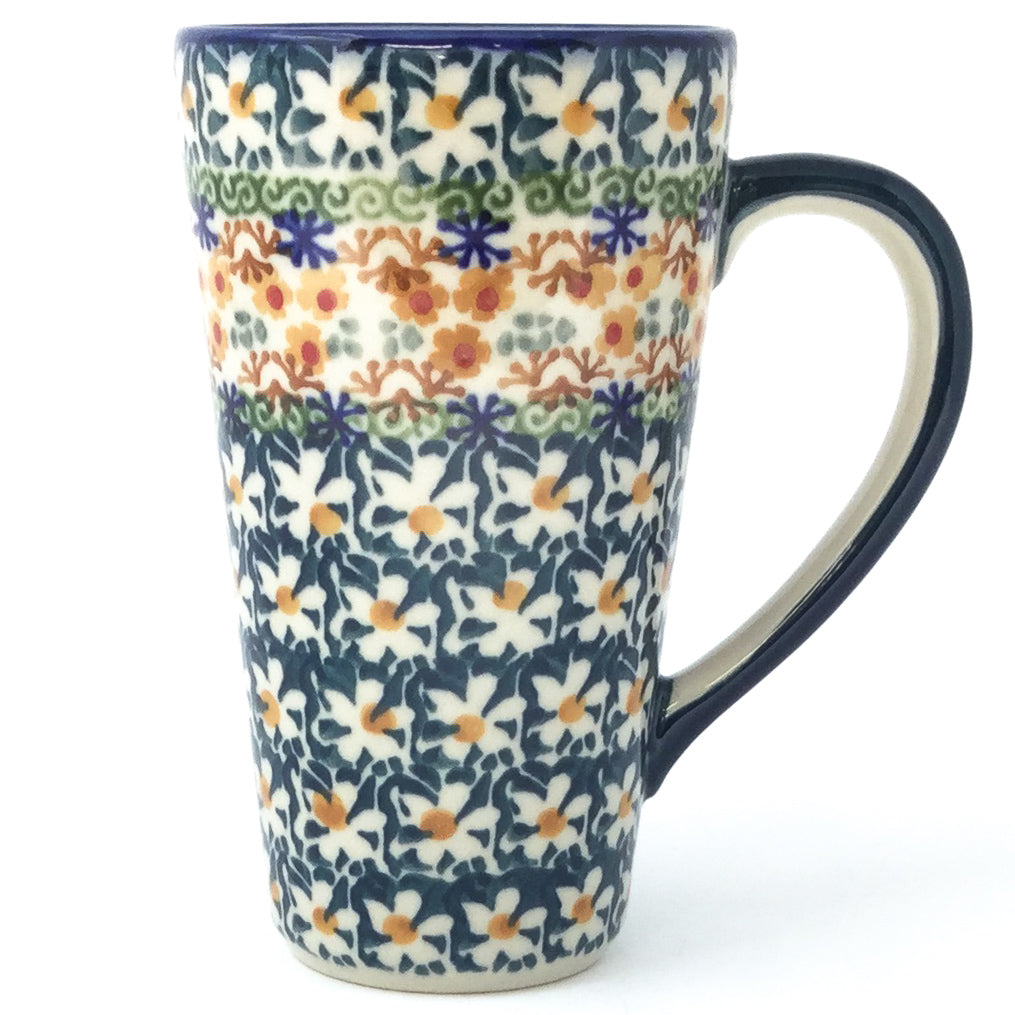 Tall Cup 12 oz in White Daisy