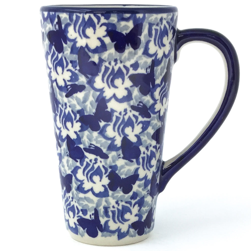 Tall Cup 12 oz in Blue Butterfly