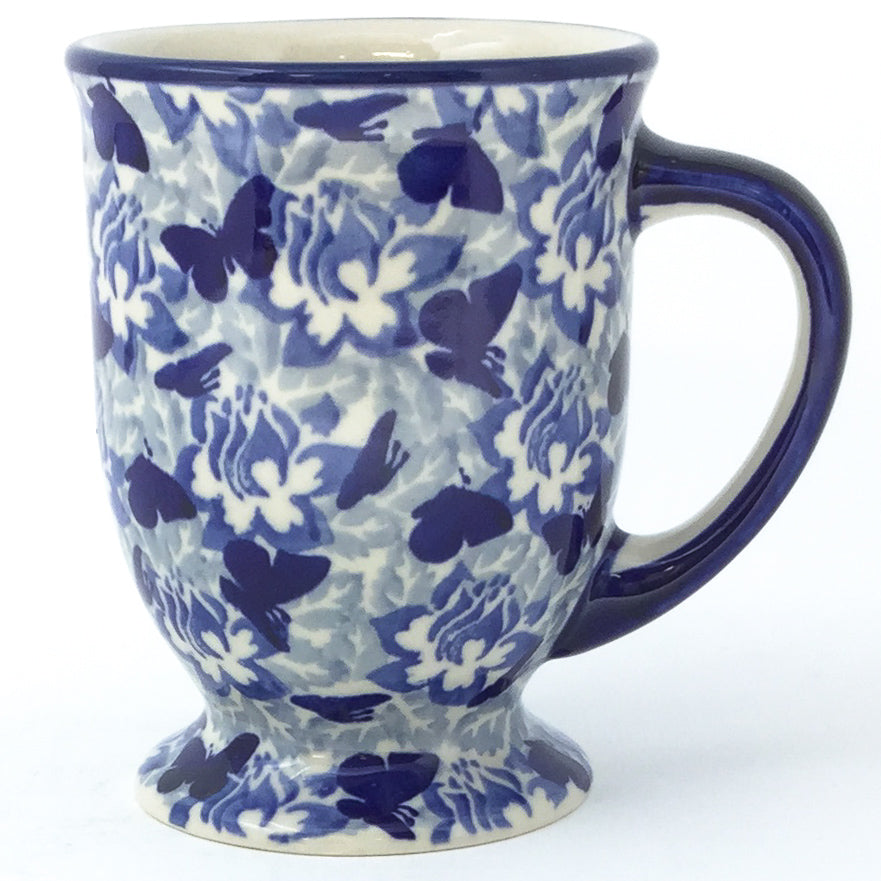 Pedestal Cup 12 oz in Blue Butterfly