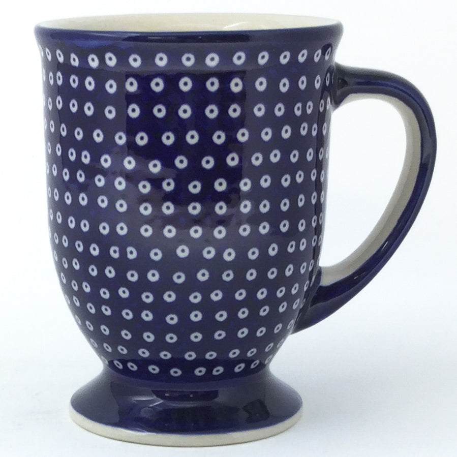 Pedestal Cup 12 oz in Blue Elegance