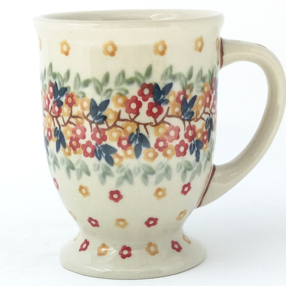 Pedestal Cup 12 oz in Tiny Flowers