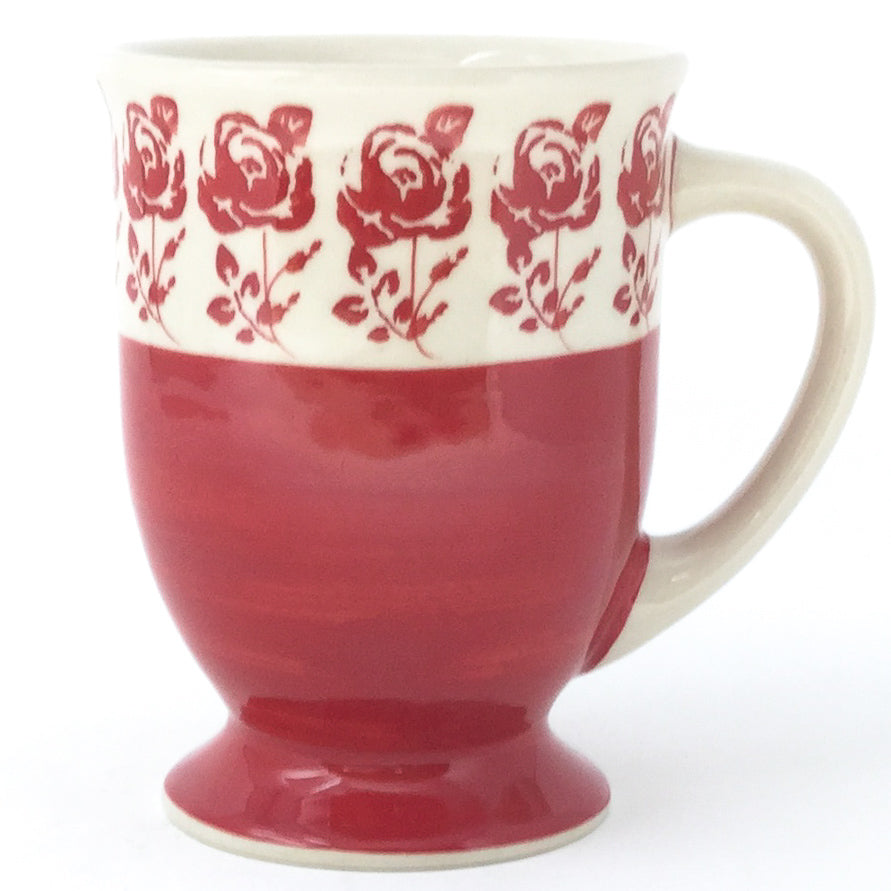Pedestal Cup 12 oz in Red Rose