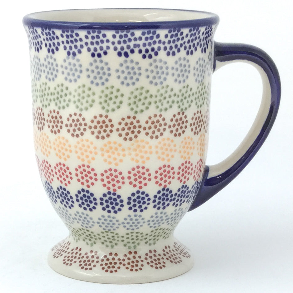 Pedestal Cup 12 oz in Modern Dots