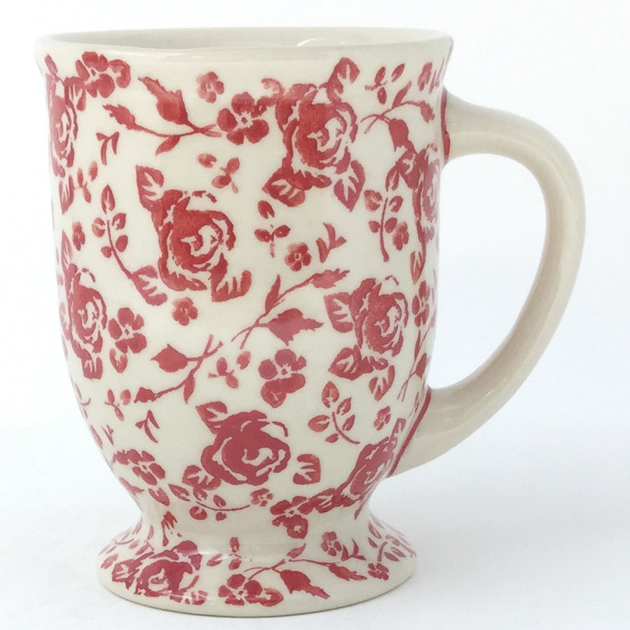 Pedestal Cup 12 oz in Antique Red