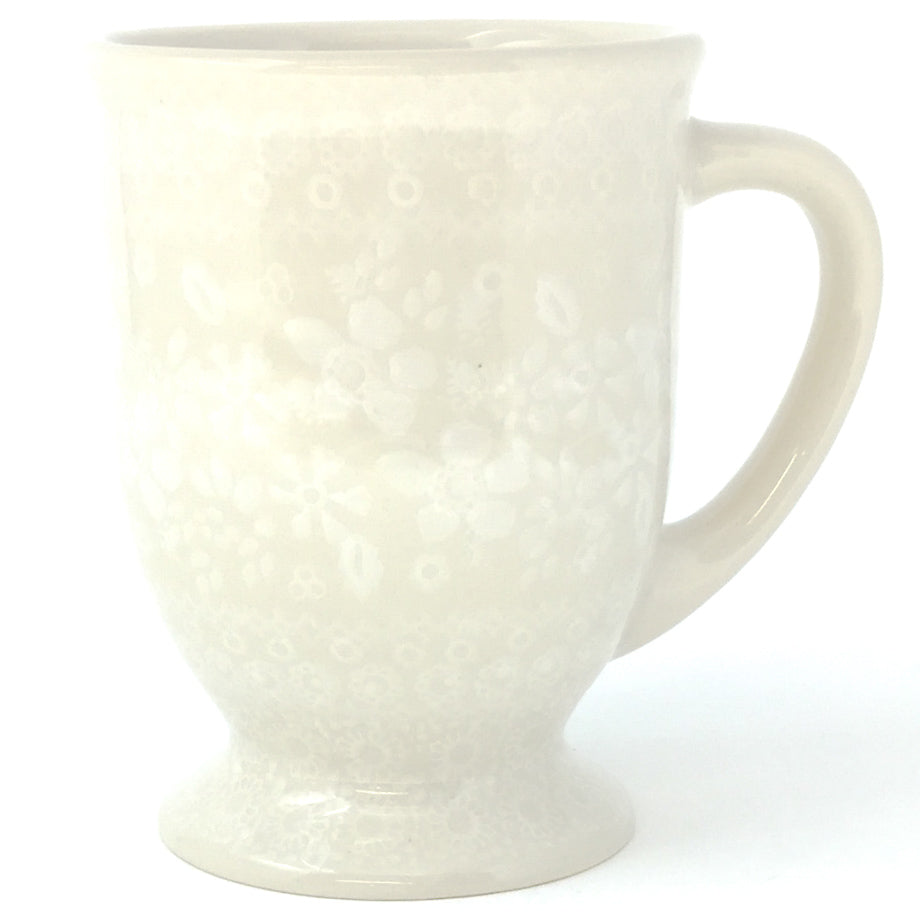 Pedestal Cup 12 oz in White on White
