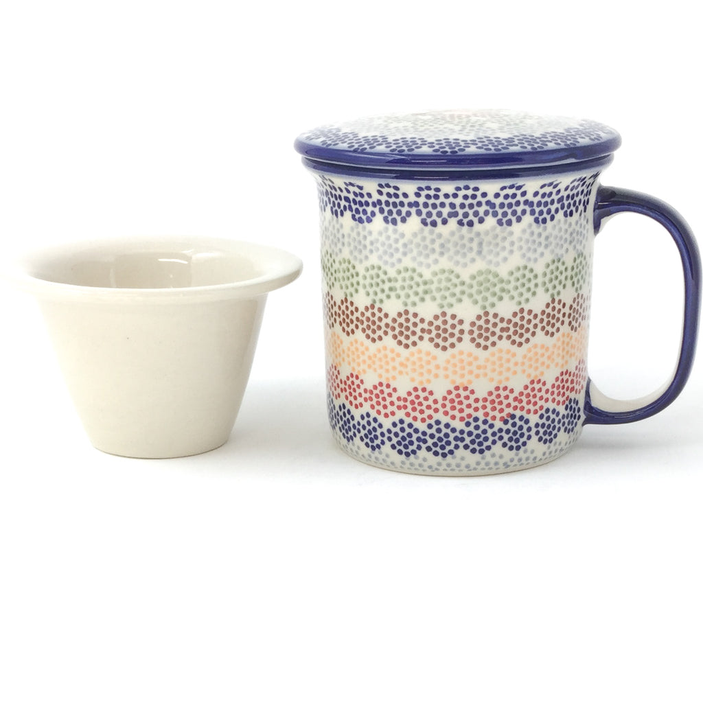 Straight Cup w/Infuser & Cover 12 oz in Modern Dots