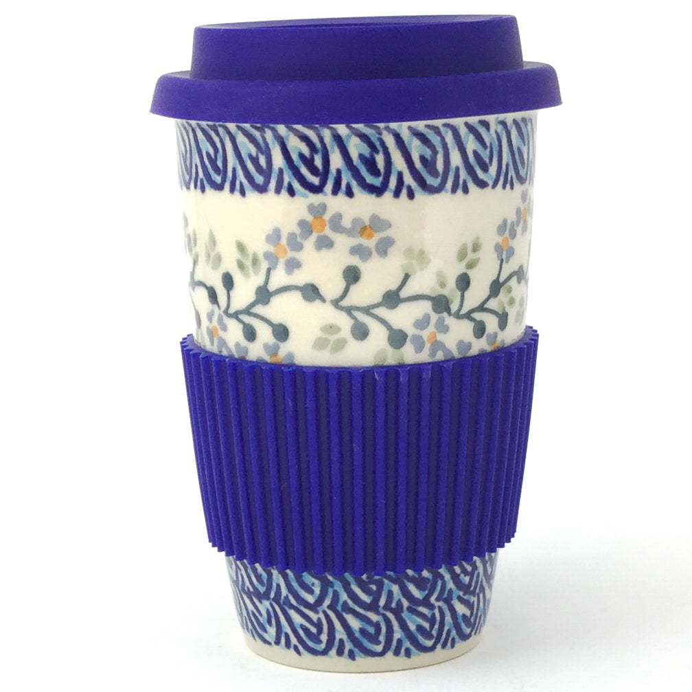 Travel Cup 14 oz in Blue Meadow