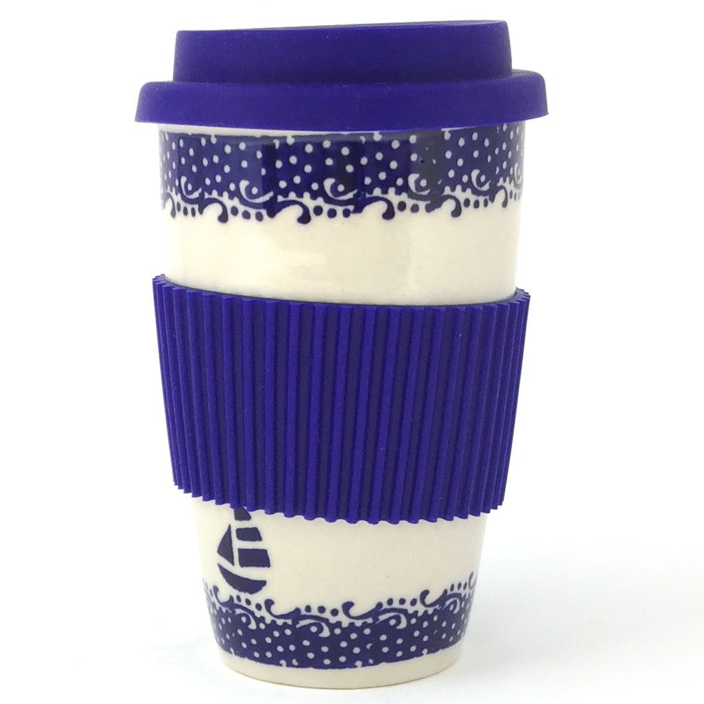 Travel Cup 14 oz in Sailboat