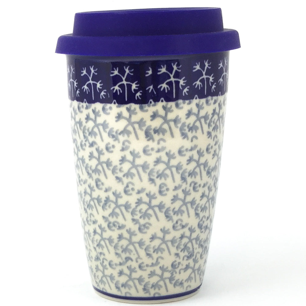 Travel Cup 14 oz in Light & Dark Snowflake