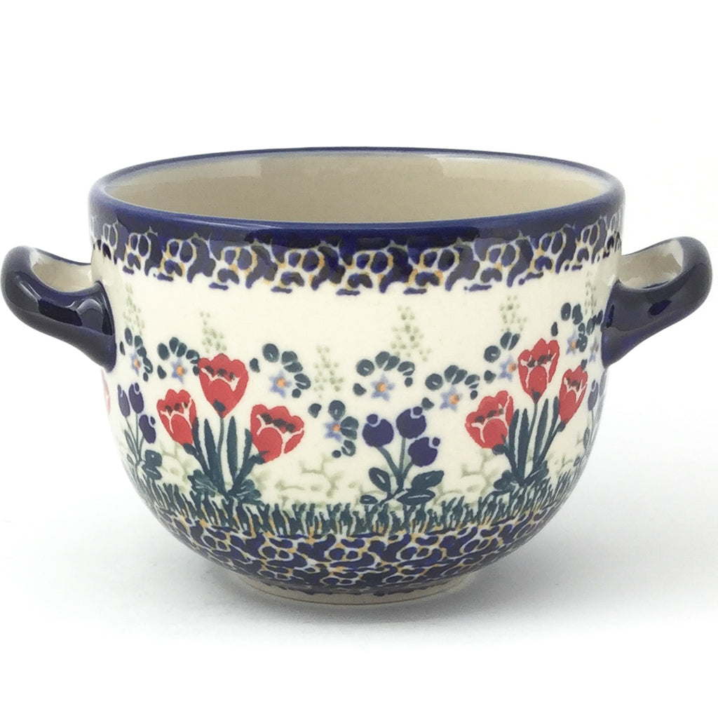 Bouillon Cup 16 oz in Red Tulips
