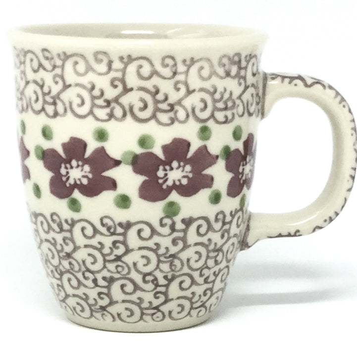 Bistro Cup 10.5 oz in Purple & Gray Flowers