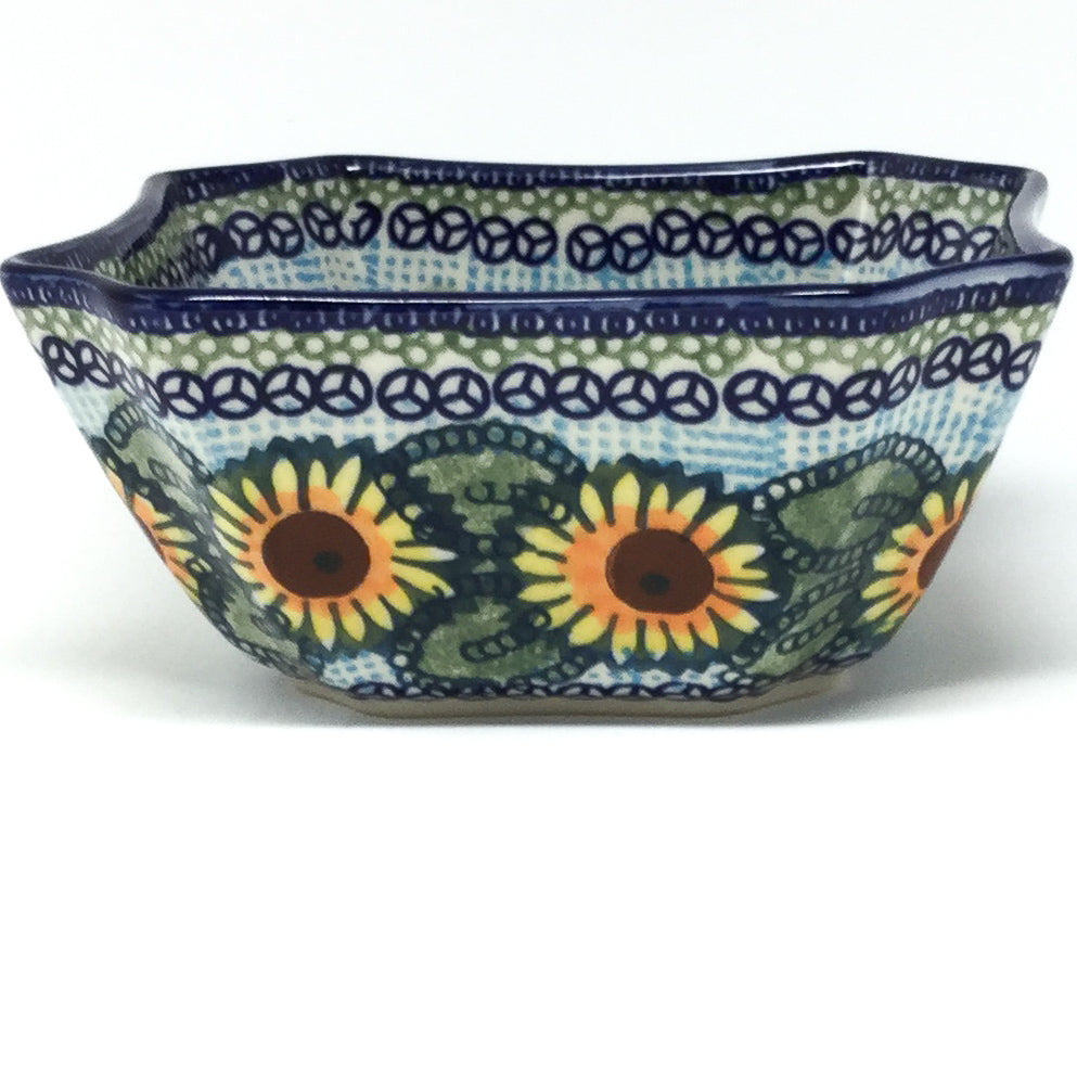 Square Soup Bowl 16 oz in Sunflowers