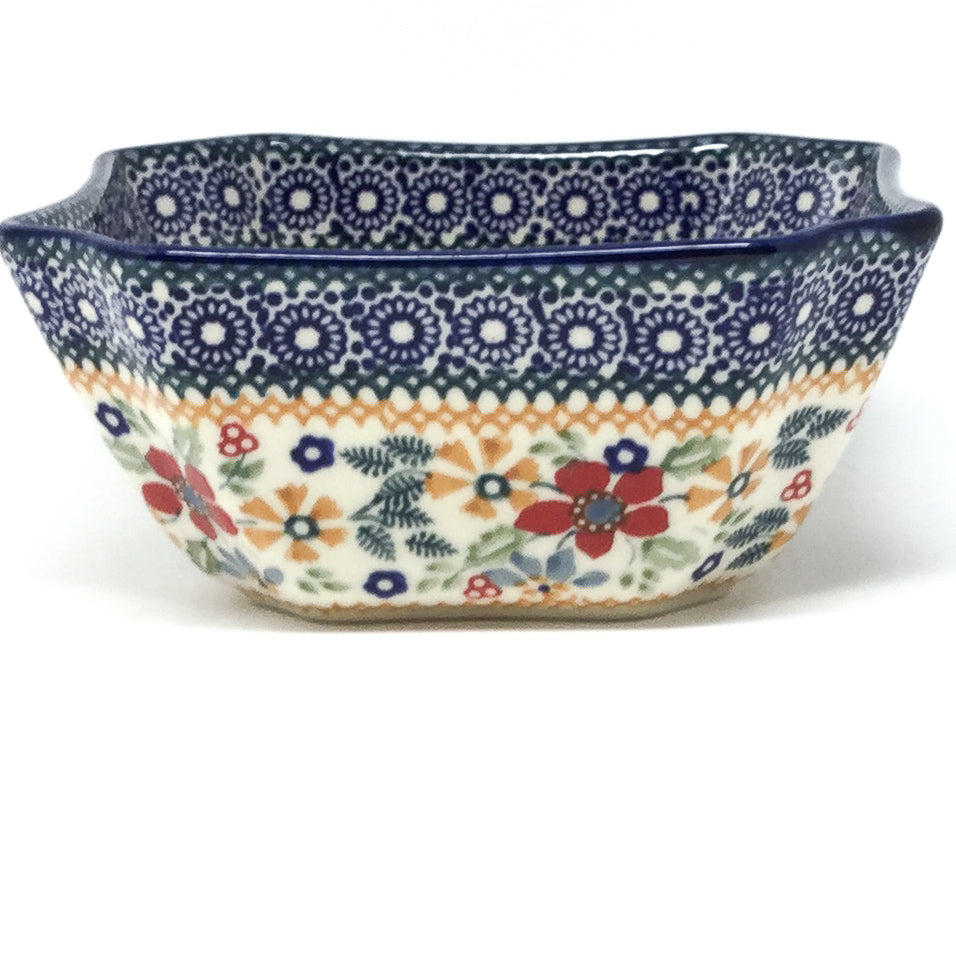 Square Soup Bowl 16 oz in Summer Bouquet