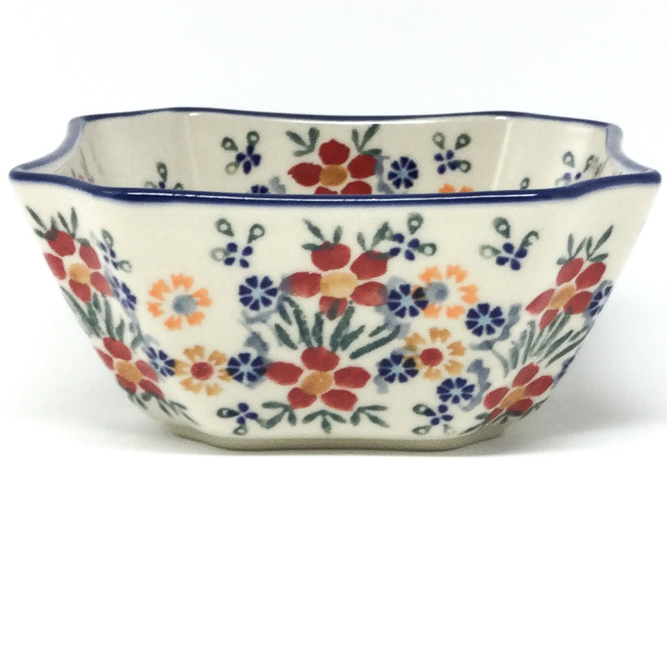 Square Soup Bowl 16 oz in Delicate Flowers