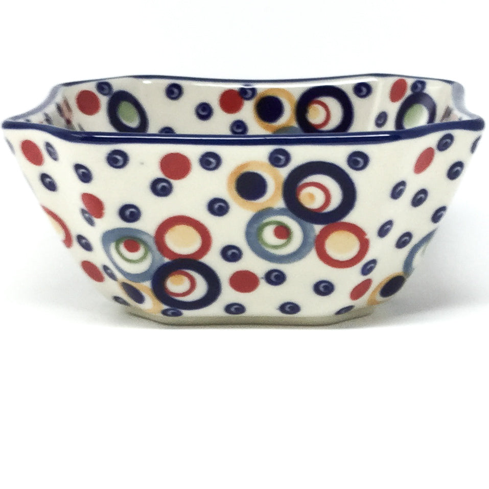 Square Soup Bowl 16 oz in Modern Circles