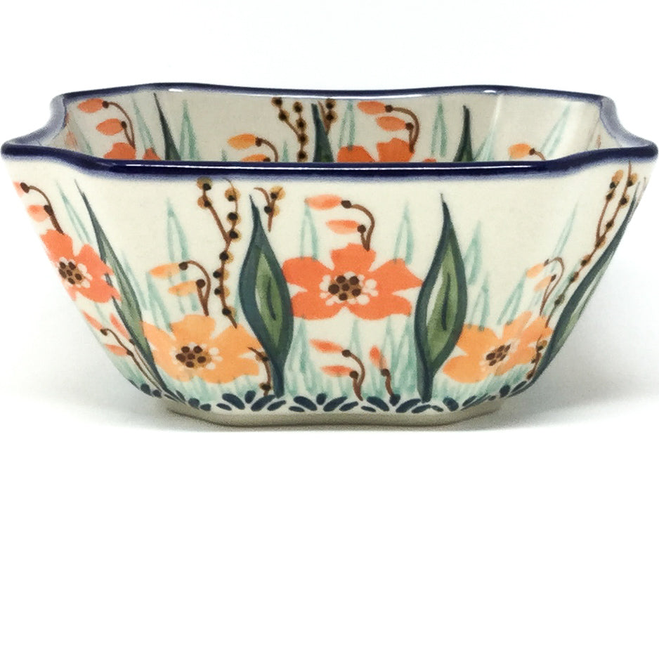 Square Soup Bowl 16 oz in Sunshine Meadow