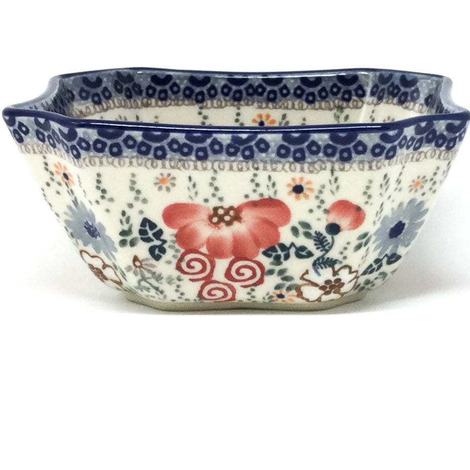 Square Soup Bowl 16 oz in Perennial Garden