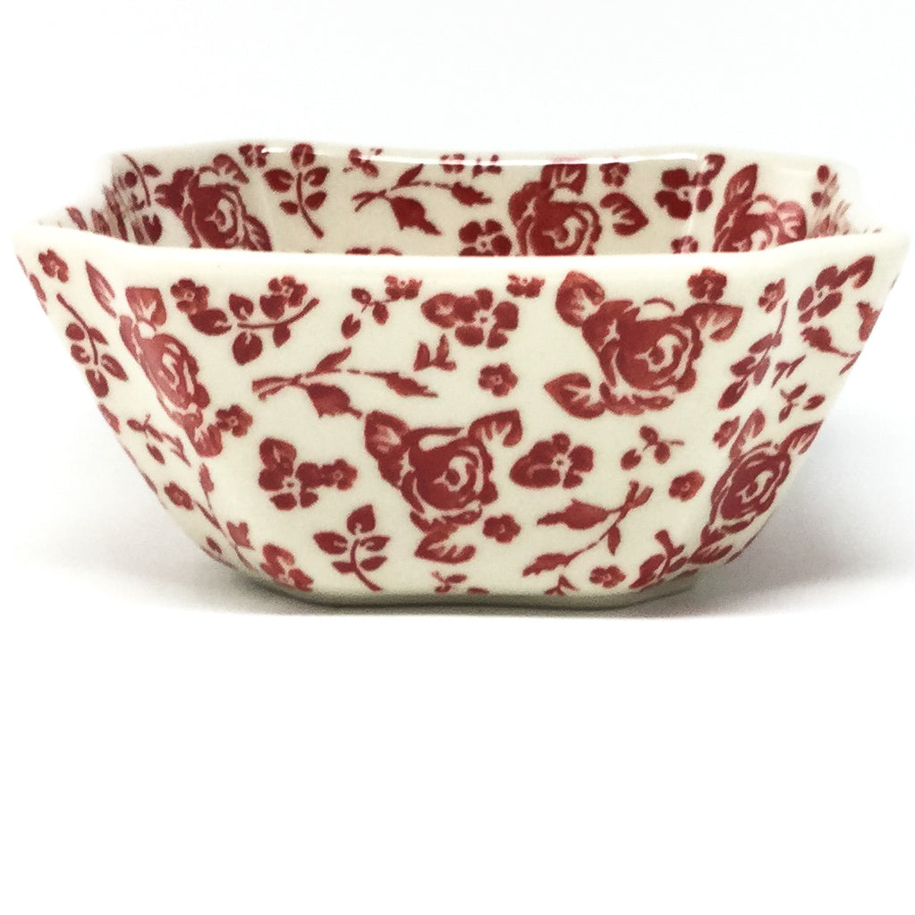 Square Soup Bowl 16 oz in Antique Red