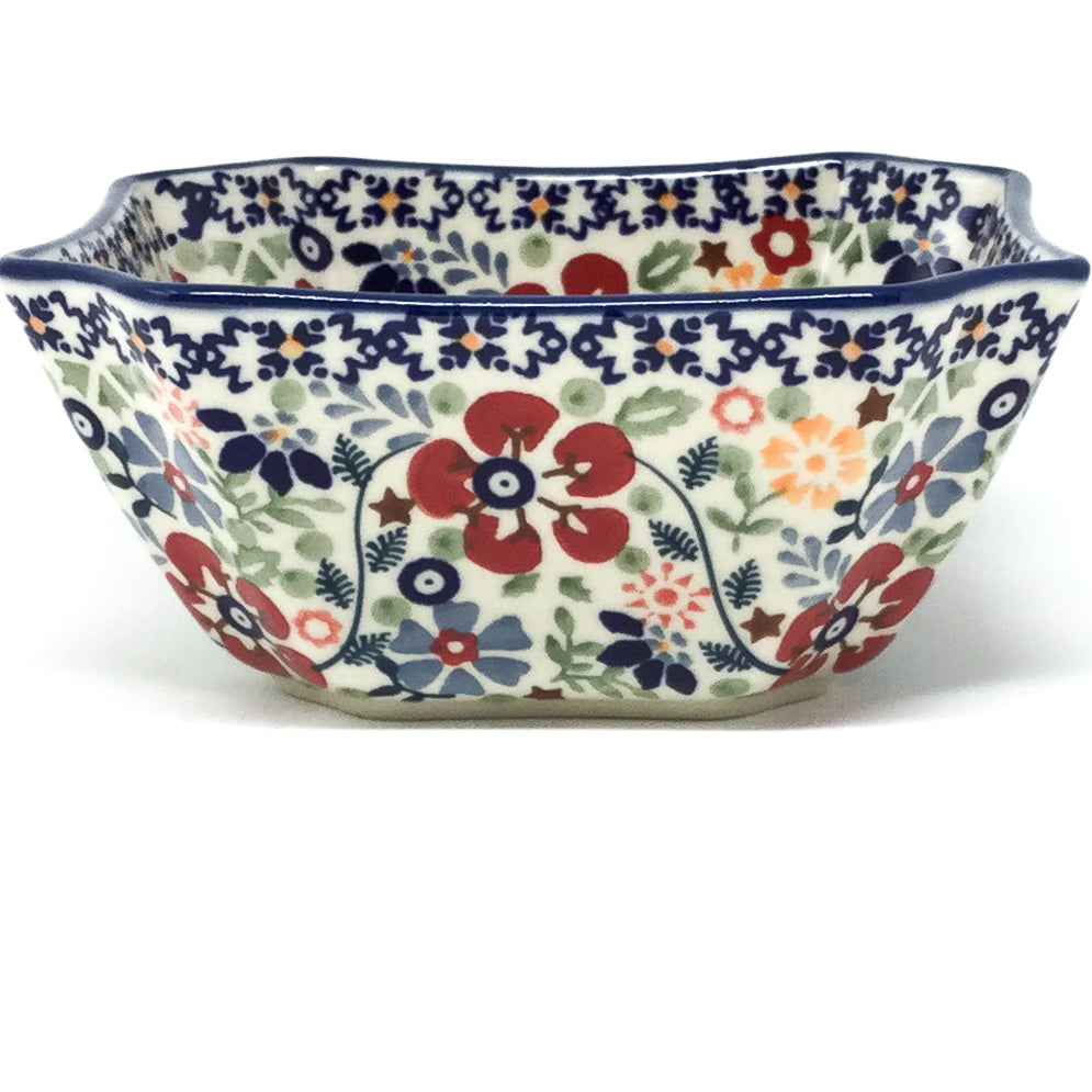 Square Soup Bowl 16 oz in Summer Arrangement
