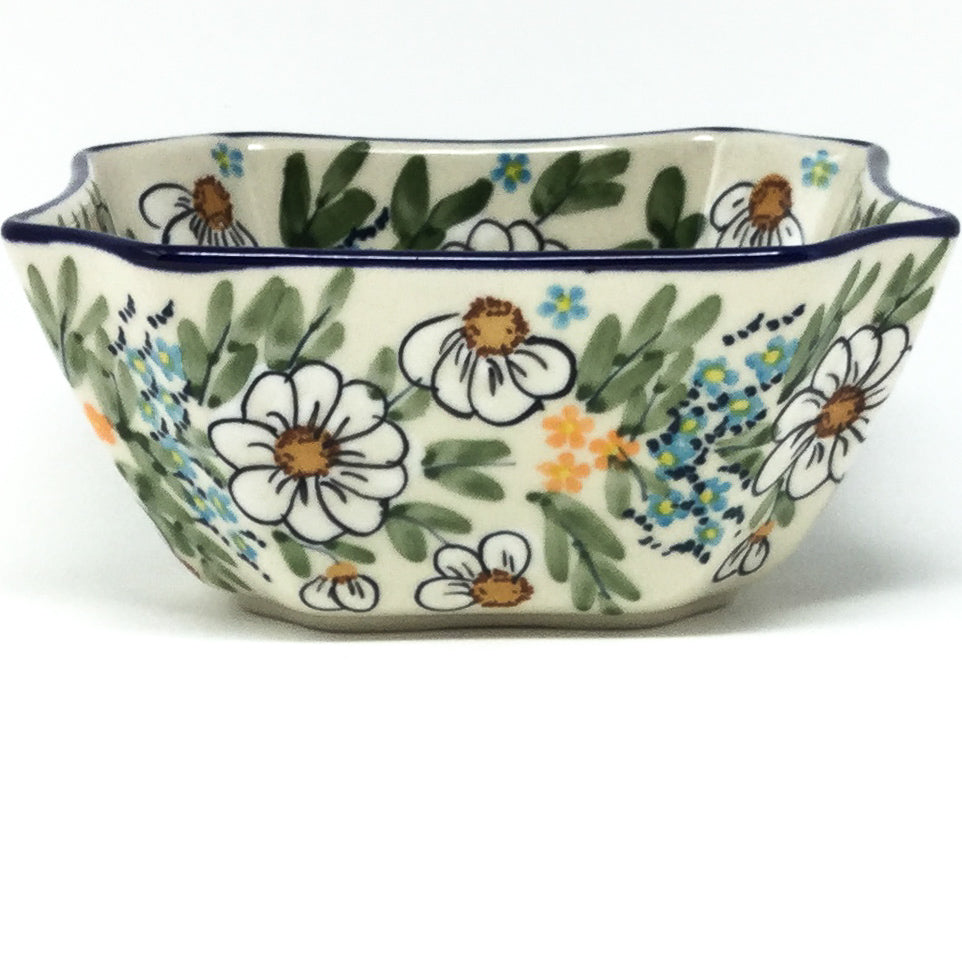 Square Soup Bowl 16 oz in Spectacular Daisy