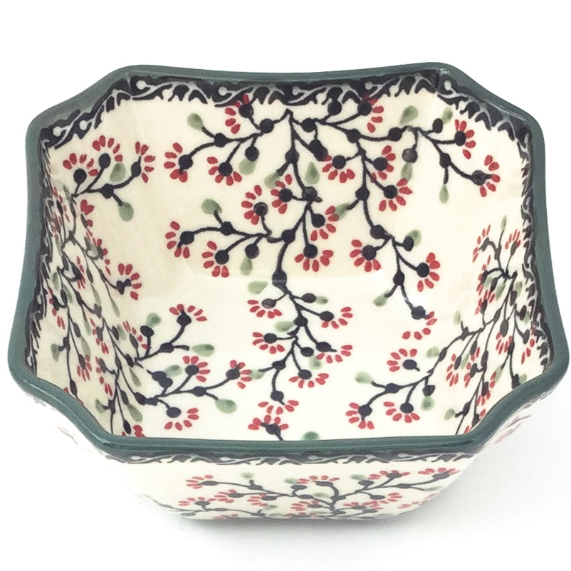 Square Soup Bowl 16 oz in Japanese Cherry